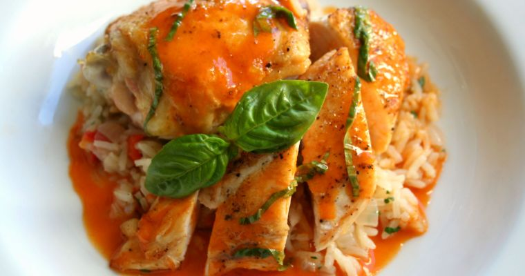 Roasted Chicken with Red Thai Curry Beurre Blanc