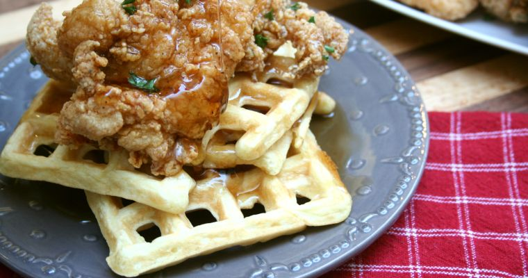Spiced Chicken and Waffles