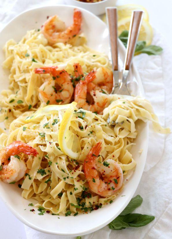Shrimp Scampi Fettuccine