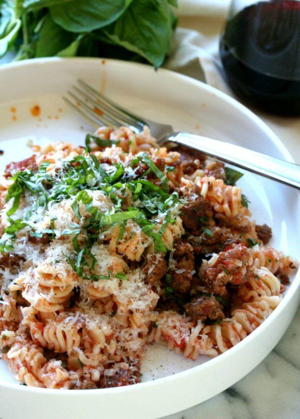 Roasted Tomato Sausage Pasta