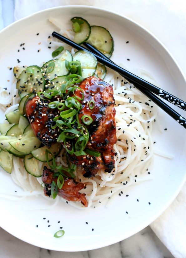 Sticky Soy Grilled Chicken with Sesame Cucumber Salad