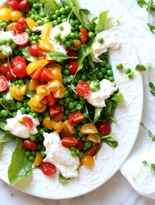 Spring Pea and Burrata Salad