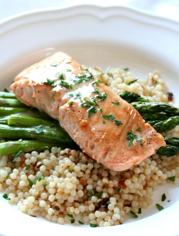 Sous Vide Salmon with Lemon Beurre Blanc