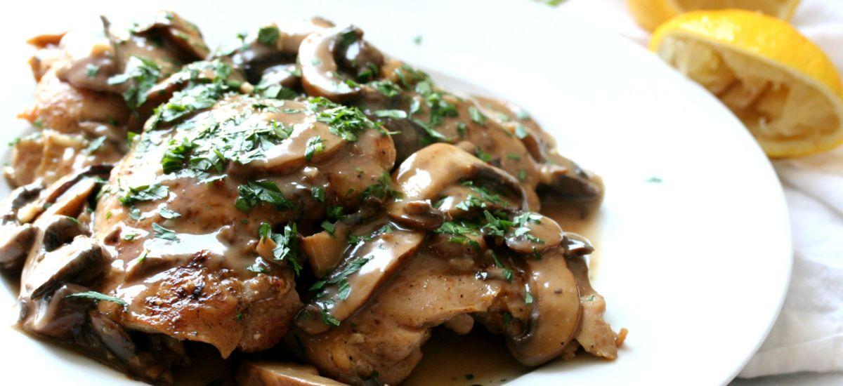 Chicken Thighs in Mushroom Sauce