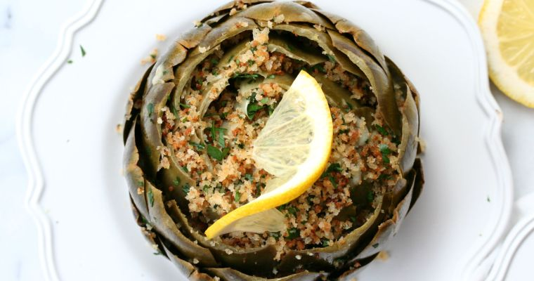 Cheesy Stuffed Artichokes