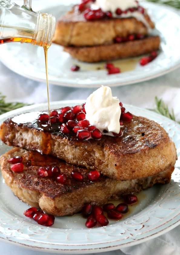 Pomegranate French Toast