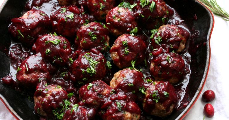 Cranberry Wine Meatballs
