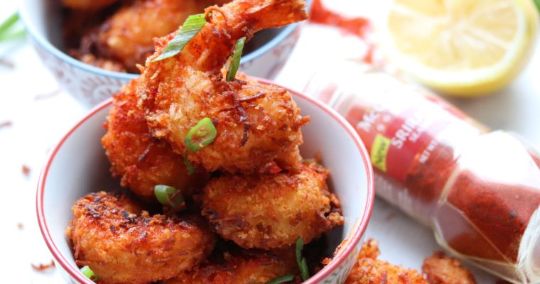 Spicy Sriracha Coconut Shrimp