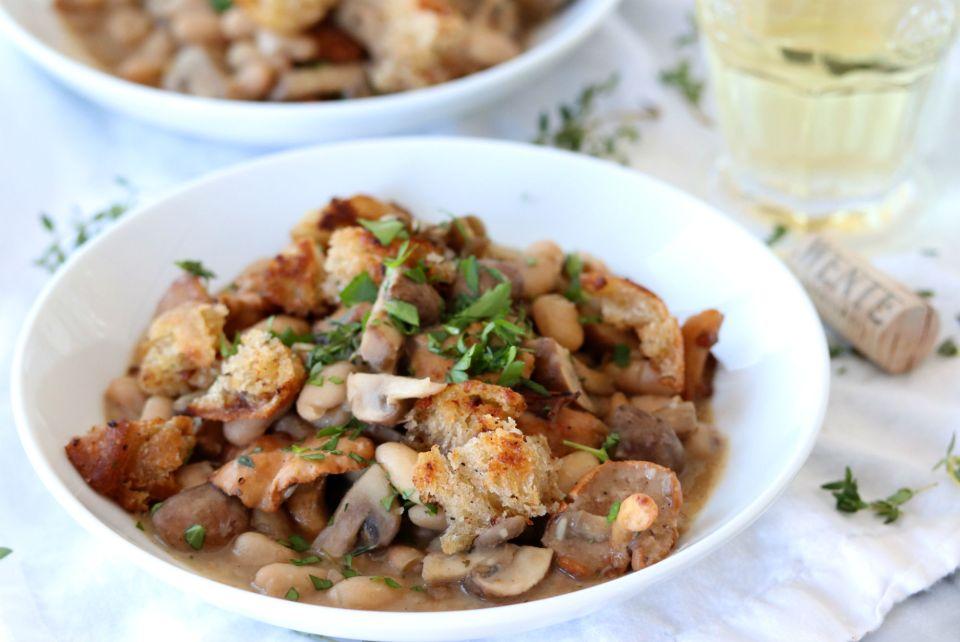 Easy Mushroom Cassoulet