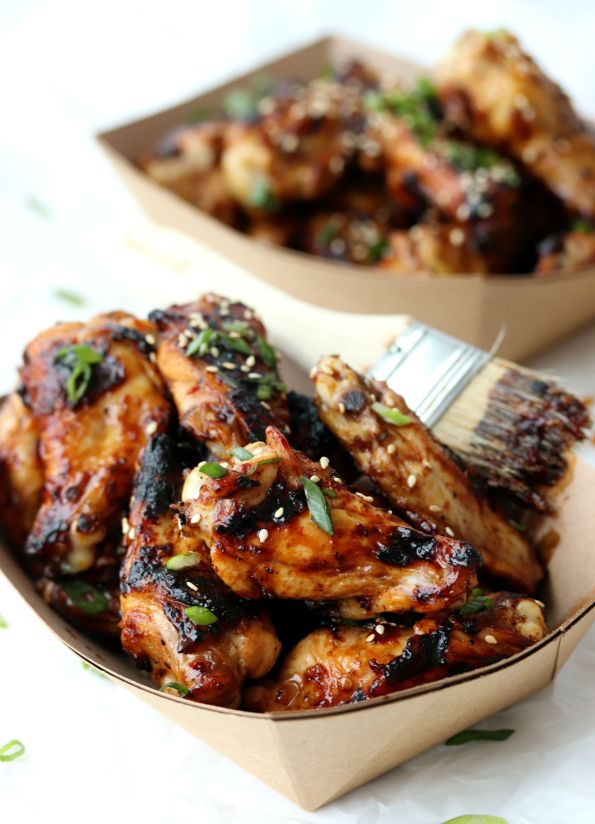 3 Ingredient Honey Soy Grilled Wings