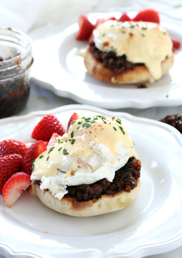 Bacon Jam Eggs Benedict