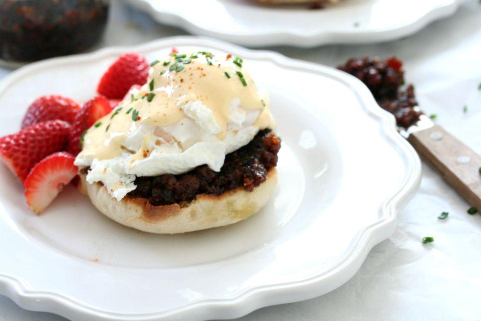Bacon Jam Eggs Benedict