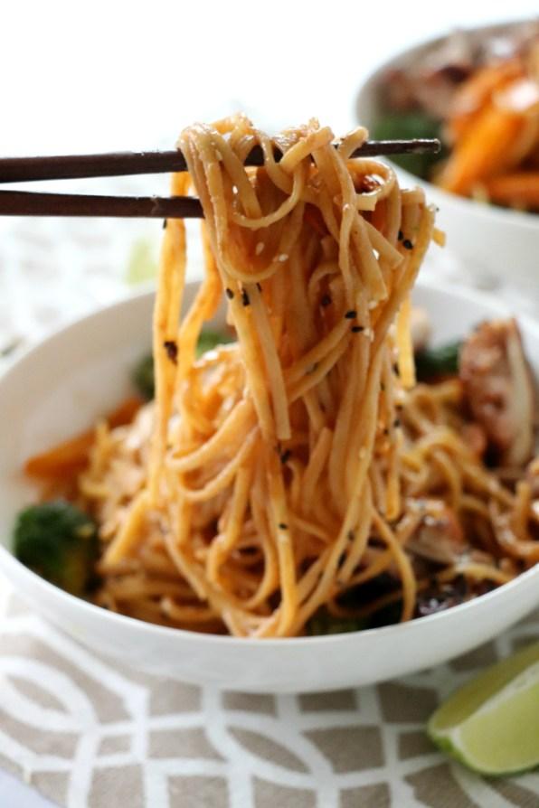 Chicken Peanut Noodles