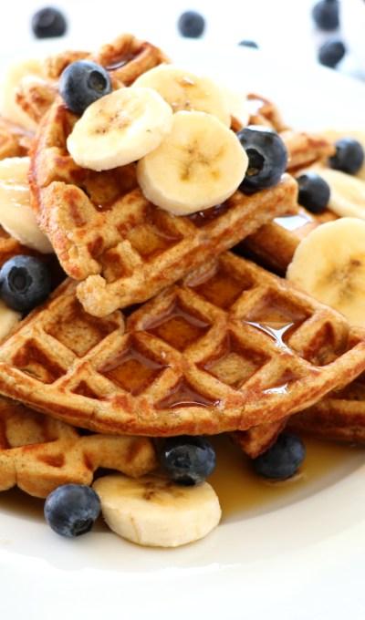 Banana Oat Waffles