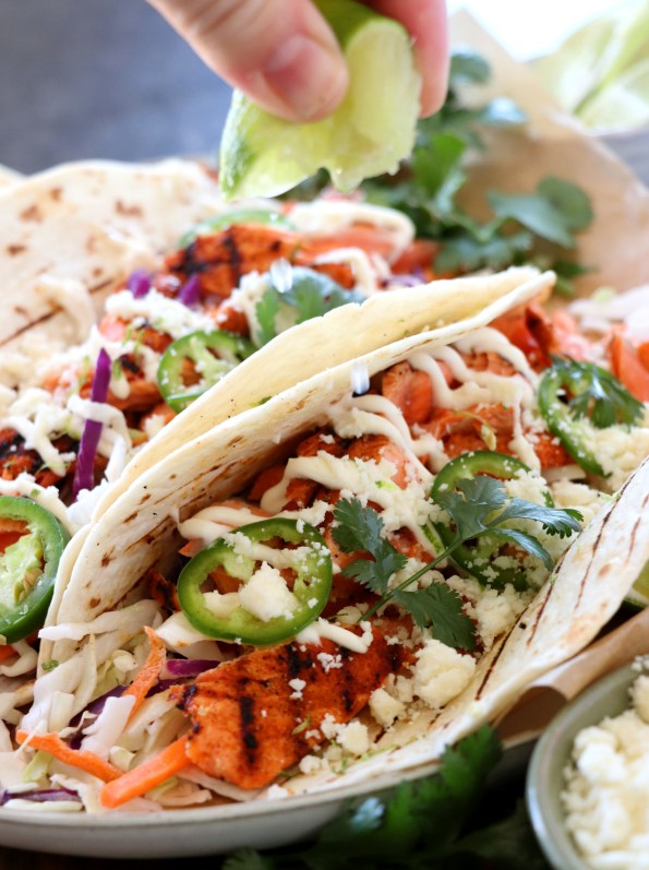 Easy Grilled Salmon Tacos