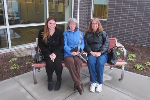 Lynn Greeley's bench dedication ceremony