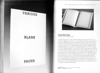 Doro Boehme and Eric Baskauskas | Various Blank Pages, 2009. Ed. of 500.
