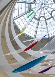 Installation view: Gutai: Splendid Playground, Solomon R. Guggenheim Museum, New York, February 15–May 8, 2013. Photo: David Heald © Solomon R. Guggenheim Foundation