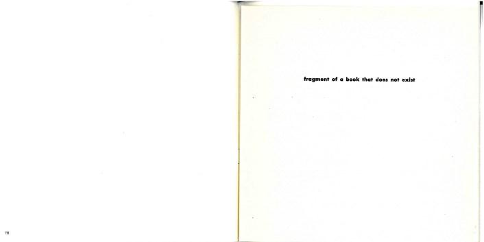 Jiri Valoch, Fragment of a book that does not exist, 1973, S 16-17 in: Bücher über Bücher (Neues Museum Weserburg, 13. Dezember 1992 - 14. März 1993)