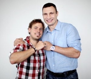 Klitschko beim WAZ-Redaktionsbesuch. Es ist das Duell Nienhaus gegen Klitschko.