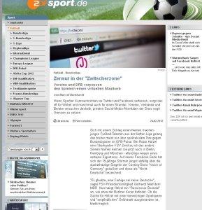 Der Text über Social Media, Twitter und Facebook in der Bundesliga von Marcel Burkhardt bei sport.zdf.de.