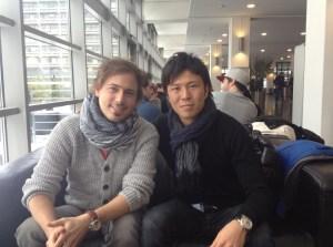 David Nienhaus im Gespräch mit Yusuke Tasaka vom VfL Bochum.