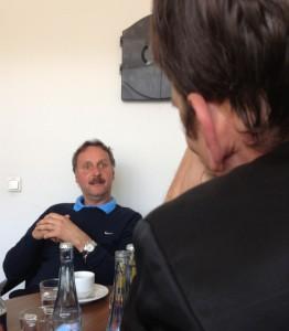 VfL Bochum-Trainer Peter Neururer zu Gast bei der WAZ in Essen. Foto: David Nienhaus