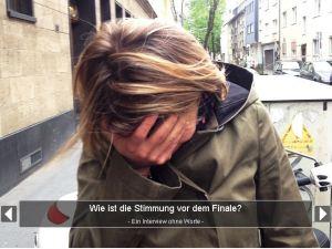Ein Interview ohne Worte mit Sabine Heinrich von 1LIVE. Foto: David Nienhaus