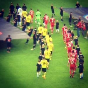 Der Supercup zwischen Borussia Dortmund und Bayern München. Foto: David Nienhaus