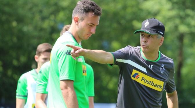 Borussia Mönchengladbachs Trainer Lucien Favre war zufrieden mit dem Trainingslager am Tegernsee. Foto: David Nienhaus