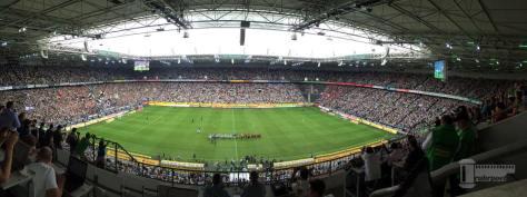 Der Borussia-Park beim ersten Heimspiel der neuen Saison gegen den FSV Mainz 05. Foto: David Nienhaus