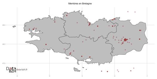 Membres en Bretagne