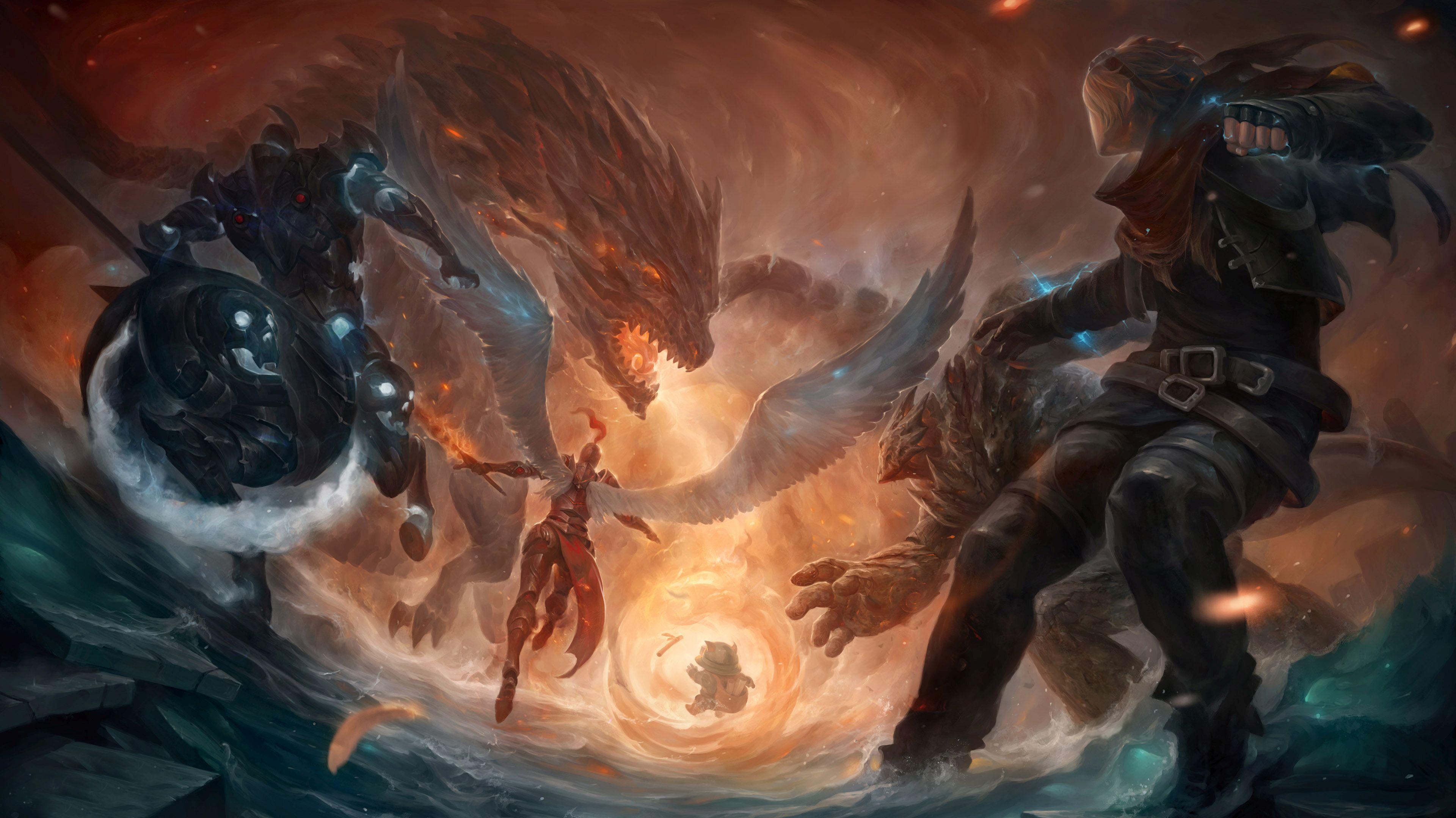 League Of Legends Battle HD Desktop Wallpaper Widescreen