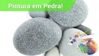 Pinturas Feitas Em Pedras E Troncos, Incrível!