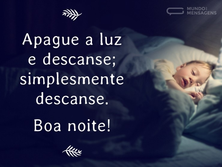 Imagem com mensagem de boa noite para enviar para amigo