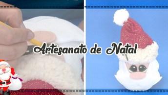 Artesanato De Natal, Papai Noel Na Lata, Veja Como Fazer!