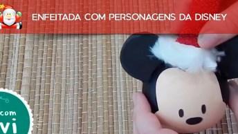 Árvore De Natal Enfeitada Com Personagens Da Disney, Confira!