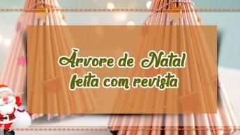 Árvore De Natal Feita Com Revista, Mais Um Artesanato Incrível!