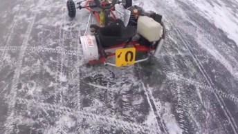 Brincando De Kart Em Rios Congelados, Isso Acontece Na Rússia!