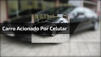 Carro É Acionado Pelo Celular Para Sair Do Estacionamento!