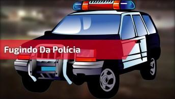 Fugindo Da Polícia Com Muito Estilo, Tem Que Ter Coragem Hahaha!