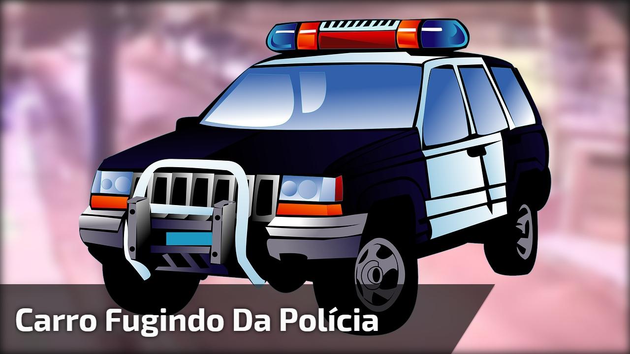 Carro fugindo da polícia