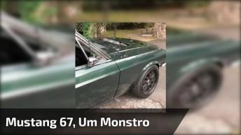 Mustang 67, Um Monstro De Motor, Confira No Vídeo O Barulho!