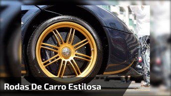 Rodas De Carro Mais Estilosa Do Dia, Será Que São De Ouro?