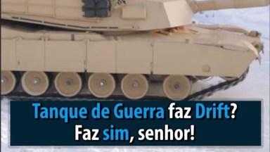 Tanque De Guerra Fazendo Drift Na Neve, Apavorando E Deslizando!