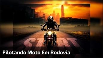 Corrida De Moto, Dá Para Sentir O Vento No Rosto, Pura Adrenalina!