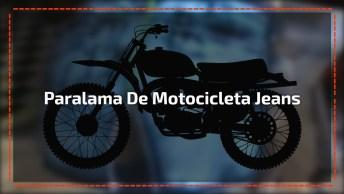 Efeito Jeans No Paralama De Uma Motocicleta, Ficou Bem Bacana!