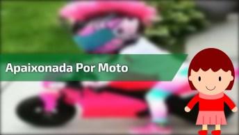 Garotinha Apaixonada Por Moto, Veja Ela Andando Em Sua Pequena Maquina!