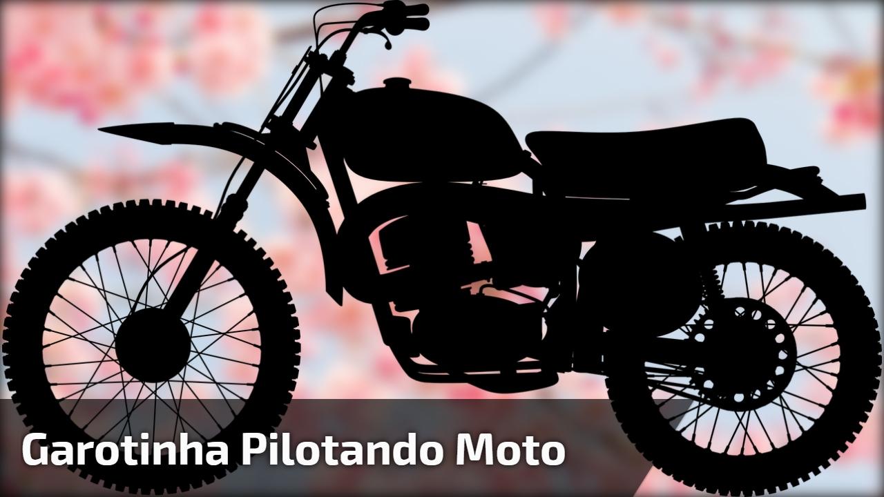 Garotinha pilotando moto, veja quanto ela é super radical, confira!