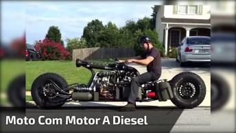 Moto Monstro Com Motor A Disel Para Os Fãs De Velocidade De Plantão!